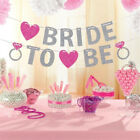 BRIDE TO BE BRIDAL SHOWER GLITTER PINK BANNER BUNTING HEN NIGHT PARTY DECOR LOVE