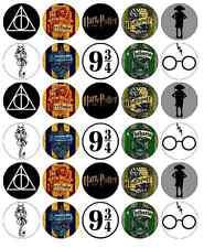 30 x simboli di Harry Potter Decorazioni per Cupcake Commestibili Wafer Carta Fata Cake Topper