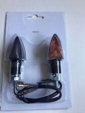 COPPIA FRECCE LAMPADA CARBON CORTE PER APRILIA RS 125 2006 2007 2008 2009 2010