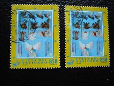VATICAN - timbre yvert et tellier n° 1017 x2 obl (A28) stamp (U)
