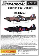 Xtra Decals 1/72 BOULTON PAUL DEFIANT Mk.I & Mk.II British Fighter