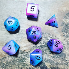 Voidwalker Purple 7 Dice Set Polyhedral DND Dungeons and Dragons, Starfinder