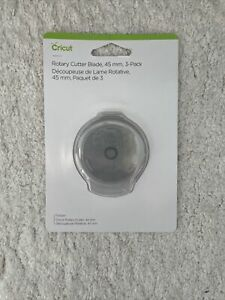 Cricut Rotary Cutter Blade 45mm NEW Pack Of Three