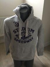 Authentic Suoerdry Vintage Speedway Mens Large Grey Hoodie Sweat Top EXC
