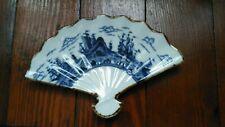 Vintage Andrea By Sadek Hand Painted Porcelain Fan Shaped Trinket Dish