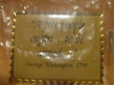 "New Magnet ""A free people ought . to be armed"" George Washington 1 1/2""x1 1/8"""