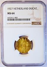1927 Ducat Netherlands Gold Coin (NGC MS 64 MS64) (4805)