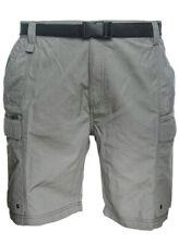 Coleman Mens XXL(44/46) Lightweight Belted Hiking Cargo Shorts, Steel Grey.
