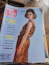 lot de 20 revues MODES DE PARIS  du n 755 A 834  vintage 1963/64  SIXTIES 60