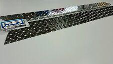 "JEEP CJ5 Rocker Panel Side Plates 72-83 with bend 1"" Diamond plate alum. 5 1/4"""