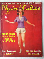 May 1938 Physical Culture Magazine Jump Roping Woman Sonja Henie in Hollywood