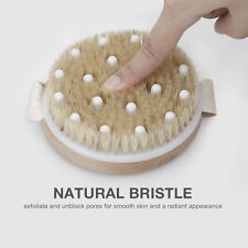 Round Shower Brush Bristles Body Brush Reducing Cellulite For Exfoliation Spa