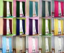 1 Set 2Pc Lined Heavy Thick Blackout Grommet Window Curtain Panel Treatment K86