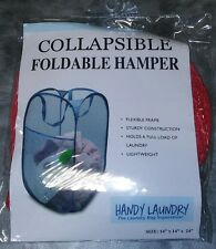 Hamper, Red 14 x 24 Easy to open and folds flat for storage. Hampers mesh. Handy