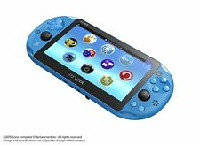 PlayStation Vita Wi-Fi Model Aqua Blue PCH-2000ZA23 Only Console From Japan New