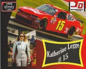 2018 Katherine Legge Airtec Chevy Camaro NASCAR Xfinity postcard