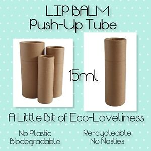 Eco-Card Kraft Push-up Lip balm tubes / containers 15ml