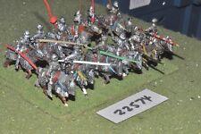 25 mm Medievale/inglese-Men at arms 12 Fichi CAV-CAV (22574)