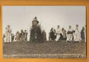 Sussex-  Pevensey Historical Pageant  - Woman on a Bonfire.   Postcard
