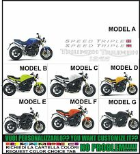 kit adesivi stickers compatibili 1050 speed triple