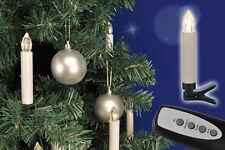 Kabellose LED Weihnachtskerzen 20 Stück mit Fernbedienung (76602) Weihnachtsdeko
