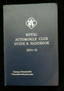 The Royal Automobile Club Guide & Handbook 1950-51 - Vintage Motoring Book