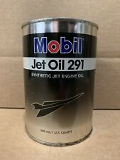 Mobil Jet Oil Can Quart 291 Engine Vintage Metal Plane Aviation Gas Sign Pump 3