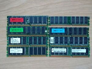 Job Lot of Desktop Memory - Mostly DDR.  8 Sticks of RAM in Total