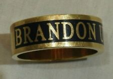 10K Yellow Gold & Blue Enamel Brandon University Men's Ring Size 10