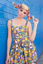 Sanrio Hello Kitty x The Simpsons Japan LA Clothing Dollskill Dress Rare Small