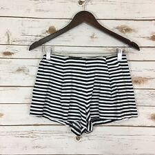 Woman's Monteau Medium Striped Stretch Casual Lounge Short Shorts Multi