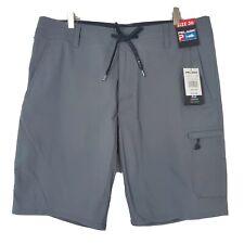 New listing NWT Pelagic Traverse Fishing Short Mens Size 36 Gray Stain Repel Swim Trunks