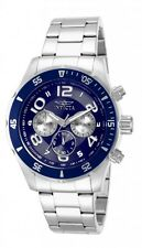 Invicta Men Pro Diver Tritnite TMI VD54 Japan Chrono Navy Blue Dial SS Watch