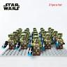 Star Wars 21pcs/lot Rare 501st LEGION BLUE CLONE WARS TROOPER with GUN Kid toys