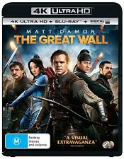 The Great Wall (Blu-ray, 2017, 2-Disc Set)