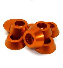 TD10105OR M3 3mm Cup Head Washer Alloy Aluminium Orange x 8