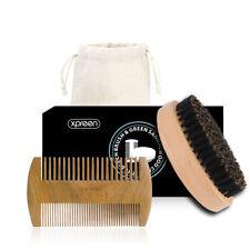 XPREEN Boar Bristles Beard Brush Kit Comb Scissor Shaping Tool Grooming Care Set