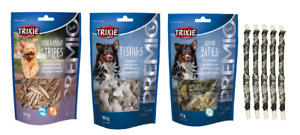 TRIXIE FISHY OMEGA 3 DOG TREATS WITH FISH SNACKS BONES TWISTS CHUNKS GLUTEN FREE