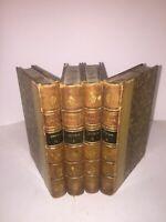 Œuvres poétiques de Jean Racine | Plon 1883 | reliure | complet de 4 volumes