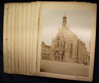 11 orig. Fotografien von Nürnberg um 1880 Architektur Kunst Kultur Bayern sf