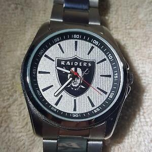 NFL Oakland Raiders Stainless Steel Watch by Game Time NEW