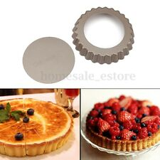 4'' Pie Tart Pan Mold Baking Removable Bottom Nonstick Round Shape