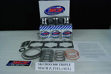 Ski Doo Mach 1 700 Formula III 700 triple piston kit complete with gaskets