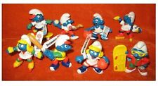 The Smurfs Sporty Costume Character Figures Lot of 8pcs