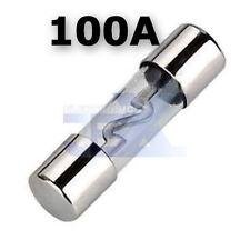 100 AMP AGU Large Fuse Glass Style Amp/Car/RV/Boat/Solar 12V/24V/32V 100AMP/100A