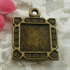 Free Ship 32 pieces bronze plated frame charms 23x18mm #1770
