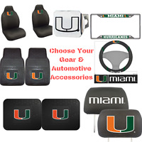 NCAA Miami Hurricanes Choose Your Gear Auto Accessories Official Licensed
