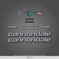 Cannondale R600 Bicycle Stickers - Decals - Transfers - Six Colour Options