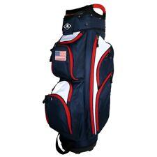 NEW Naples Bay Golf CT Lite Cart Bag 14-way Top USA Flag - Navy / Red / White