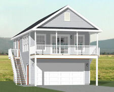 20x32 House -- PDF Floor Plan -- 808 sq ft -- Model 6